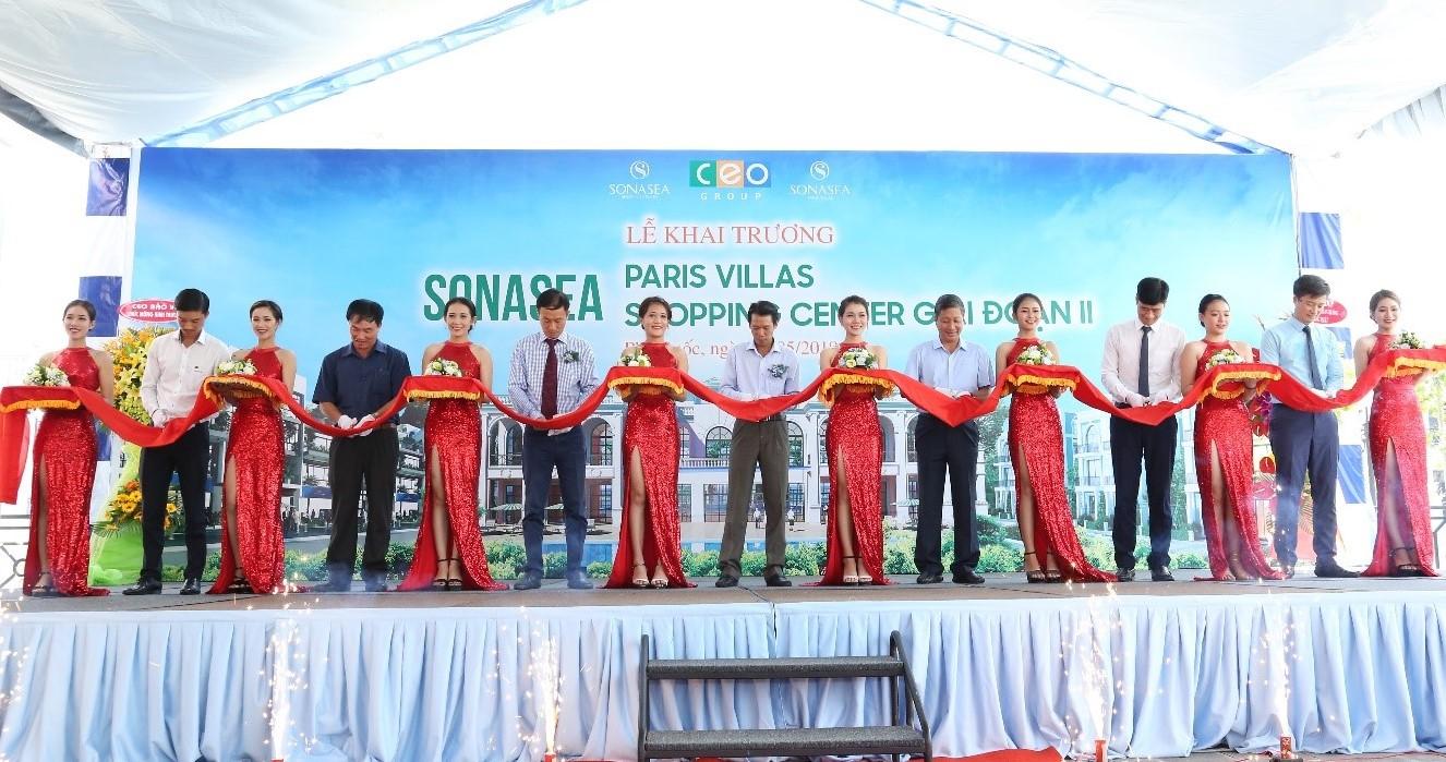 Khai trương Sonasea Paris Villas và Sonasea Shopping Center 2, Tập đoàn CEO tiếp tục khẳng định vị thế dẫn đầu tại Phú Quốc - Tập đoàn CEO