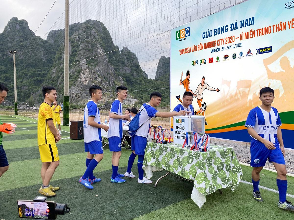 CEO Vân Đồn tổ chức giải bóng đá ủng hộ đồng bào miền Trung - Tập đoàn CEO