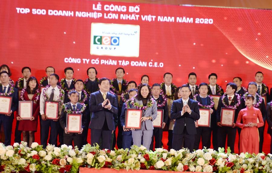 Tập đoàn CEO được vinh danh trong Top 150 Doanh nghiệp tư nhân lớn nhất Việt Nam 2020 - Tập đoàn CEO