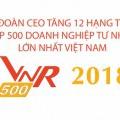 Năm 2018, Tập đoàn CEO tăng 12 hạng trong Top 500 doanh nghiệp tư nhân lớn nhất Việt Nam - Tập đoàn CEO
