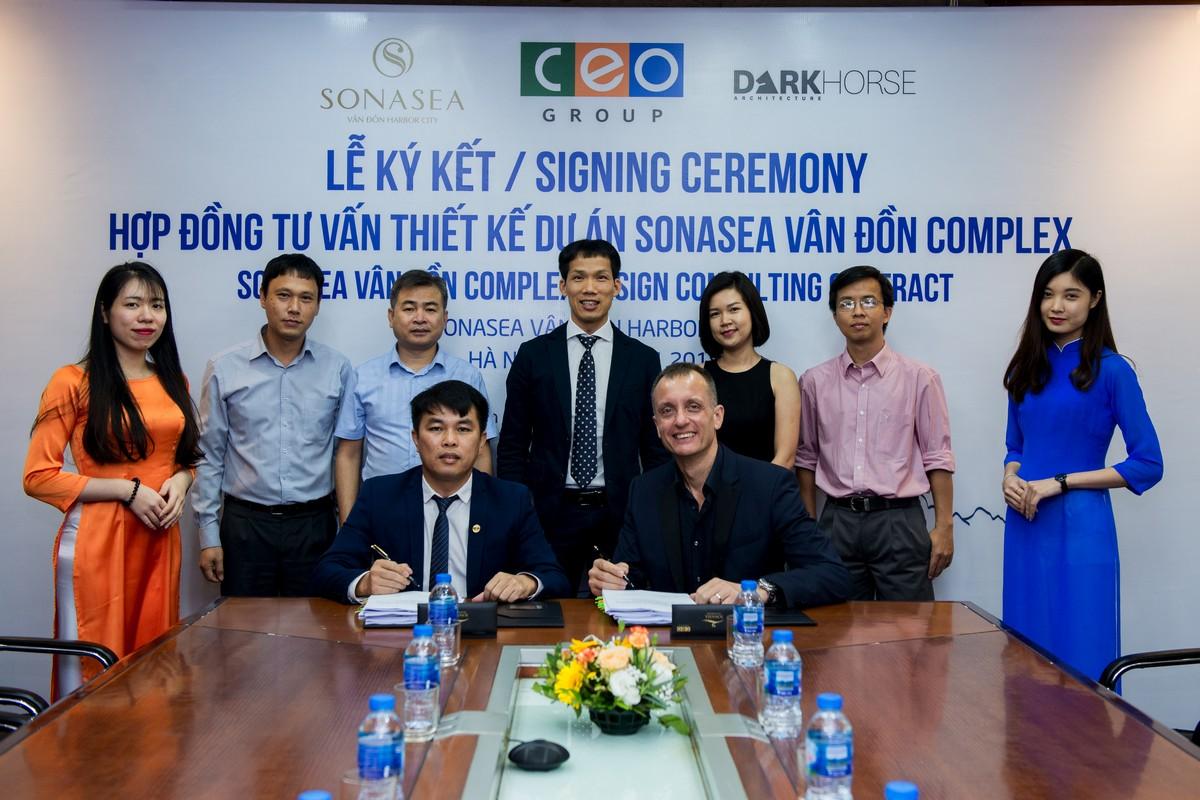 Tập đoàn CEO ký kết hợp đồng tư vấn thiết kế dự án Sonasea Vân Đồn Complex cùng Dark Ho - Tập đoàn CEO